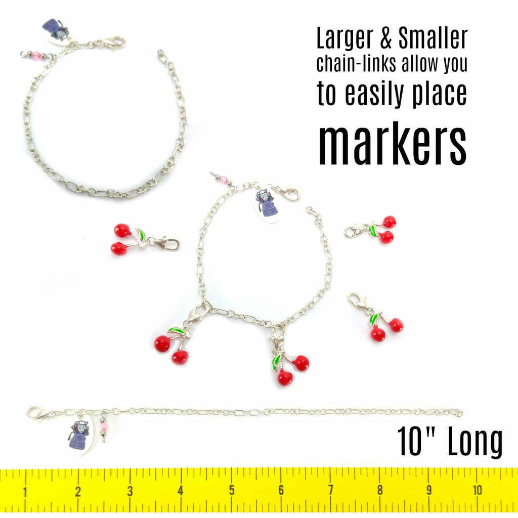 Sheep - (Choice of Gold Clasp or Gold Pear-Shaped Pin) </br> Stitch Marker (Single):Stitch Markers,Slipped Stitch Studios:Slipped Stitch Studios