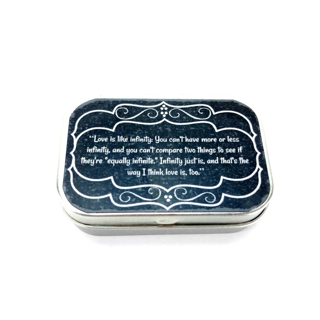 Mr Rogers Quotes </br> Love is Infinity </br> Tiny Tin:Tool Box,Slipped Stitch Studios:Slipped Stitch Studios