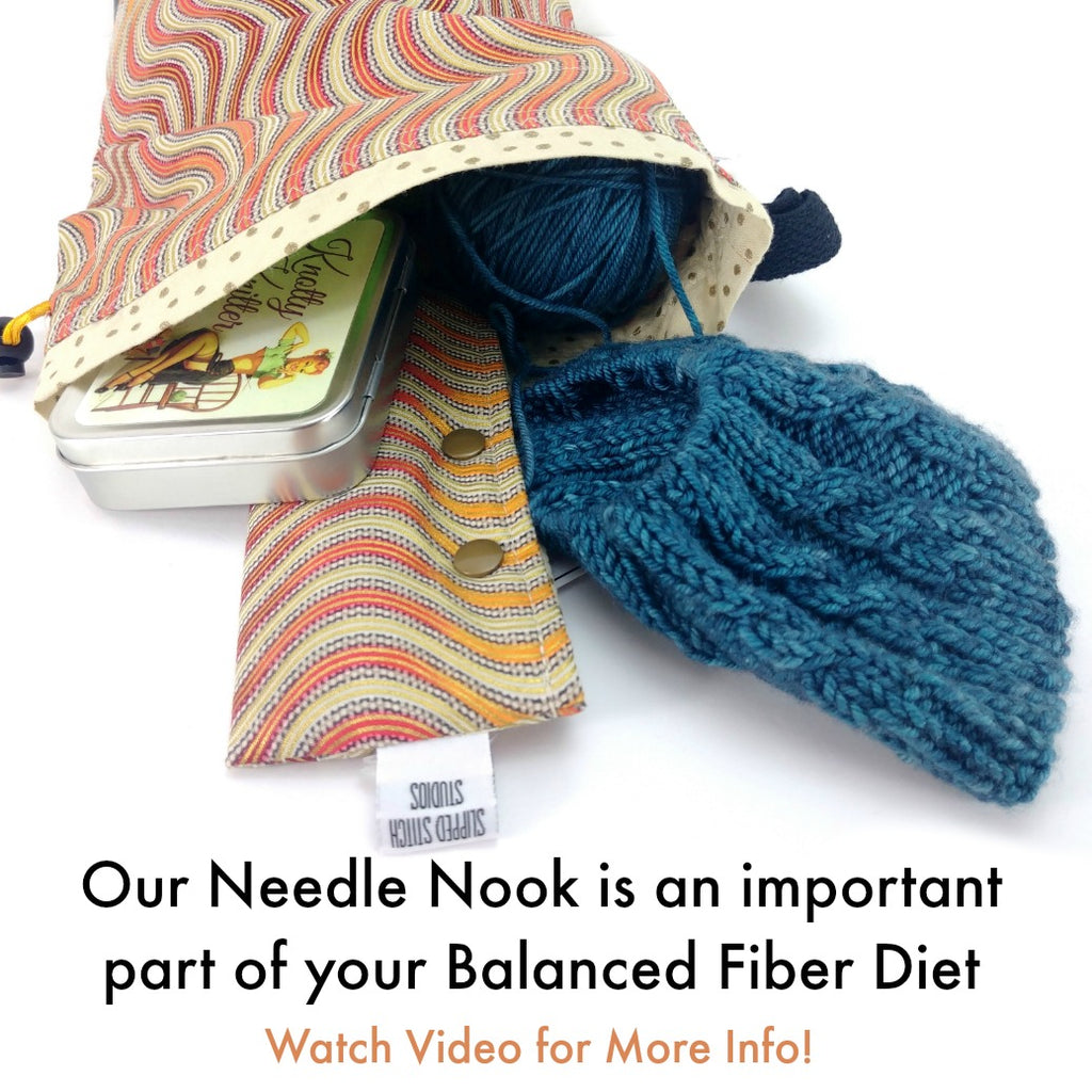 Knitting is My Happy Place </br> Needle Nook:Needle Nook,Slipped Stitch Studios:Slipped Stitch Studios