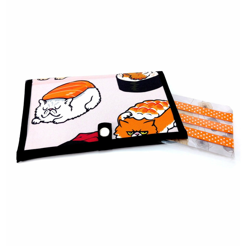 Sushi Cats </br> Pattern Holder & Magnet Set </br> Knit & Crochet Pattern Organizer:Pattern Wallet,Slipped Stitch Studios:Slipped Stitch Studios