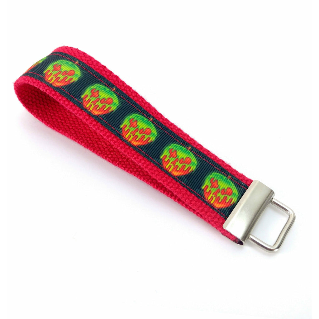Candy Apples Travel Lanyard </br>:Travel Lanyard,Slipped Stitch Studios:Slipped Stitch Studios