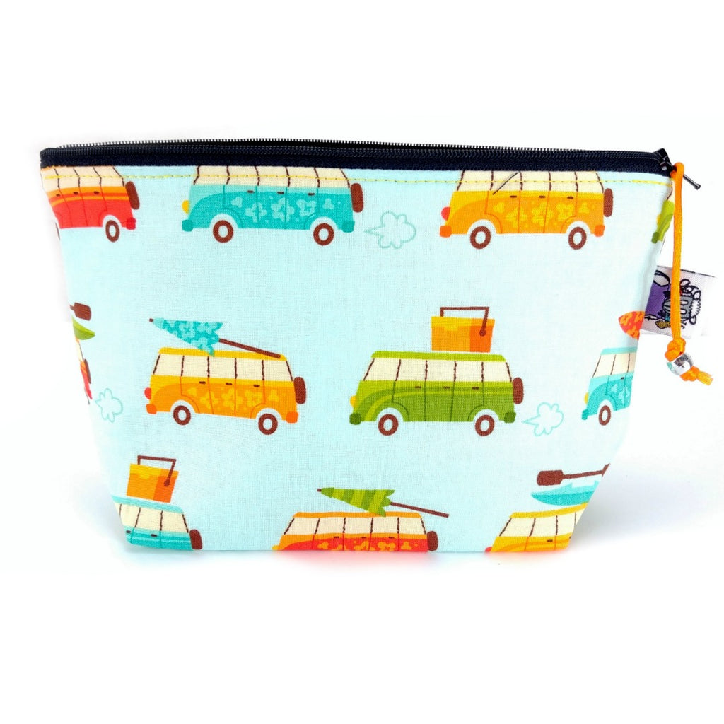 Road Trip </br> Zipper Notion Pouch:Zipper Notion Pouch,Slipped Stitch Studios:Slipped Stitch Studios