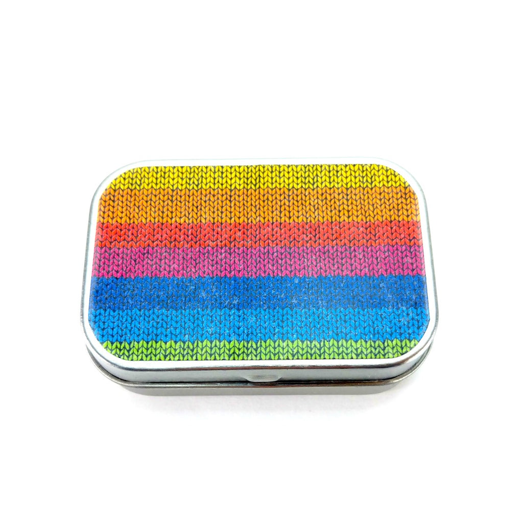 Rainbow </br> Tiny Tin:Tool Box,Slipped Stitch Studios:Slipped Stitch Studios