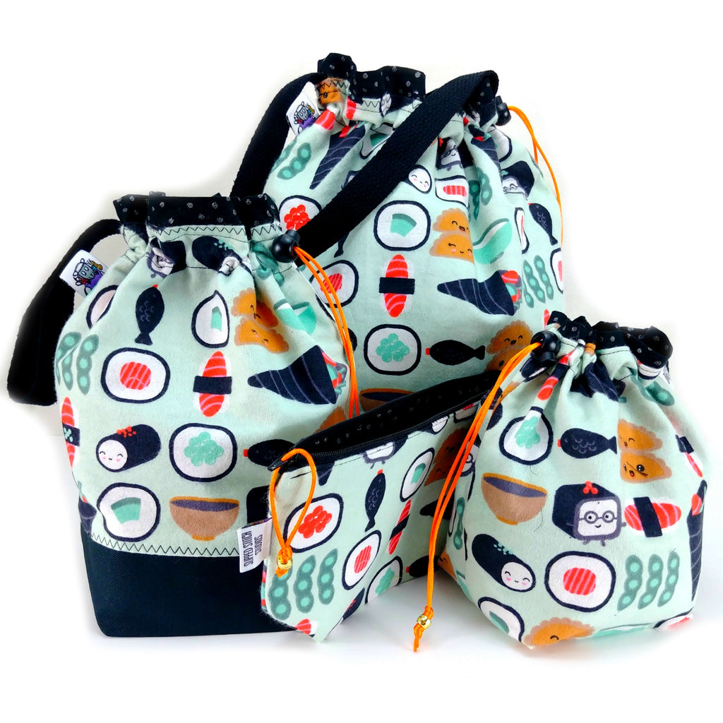 Bento Box 2 (Flannel) </br> Zipper Notion Pouch:Zipper Notion Pouch,Slipped Stitch Studios:Slipped Stitch Studios
