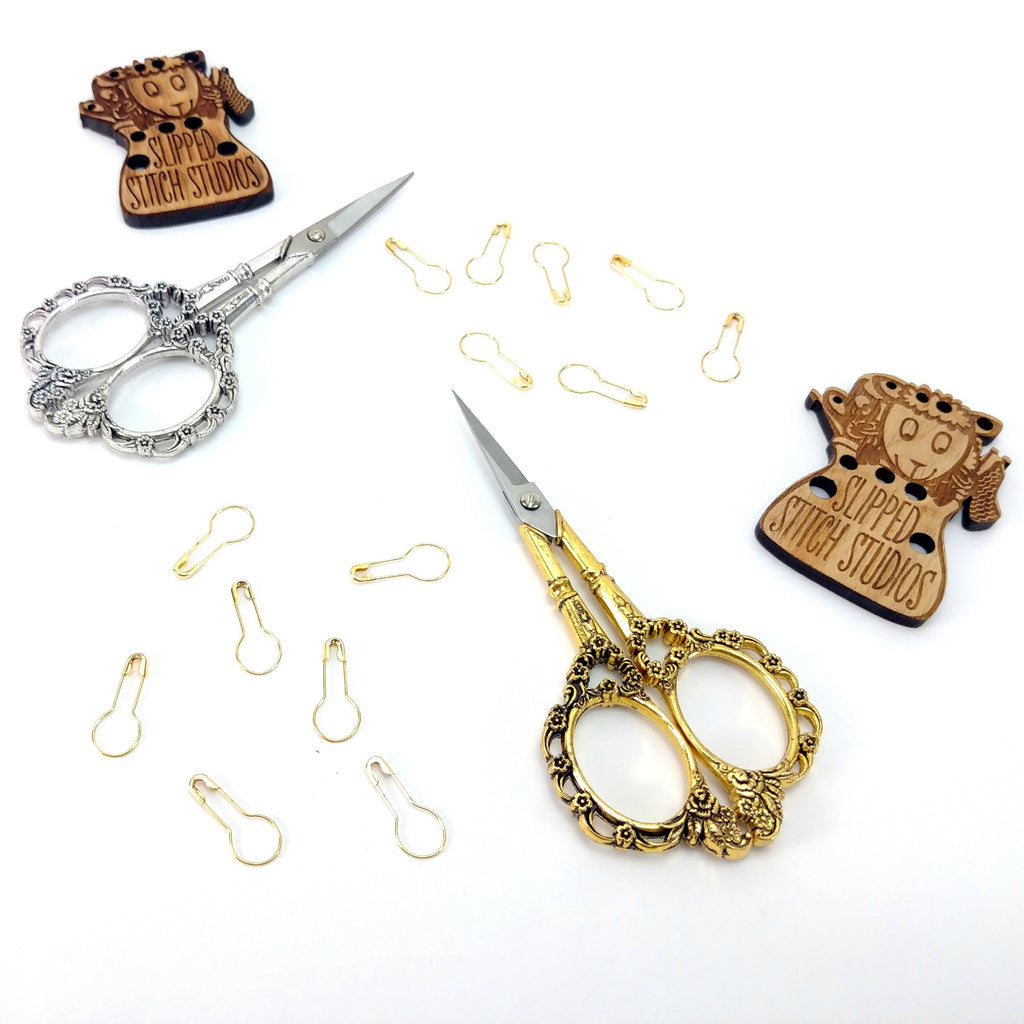 Fancy Gold </br> Embroidery Scissors:Accessories,Slipped Stitch Studios:Slipped Stitch Studios
