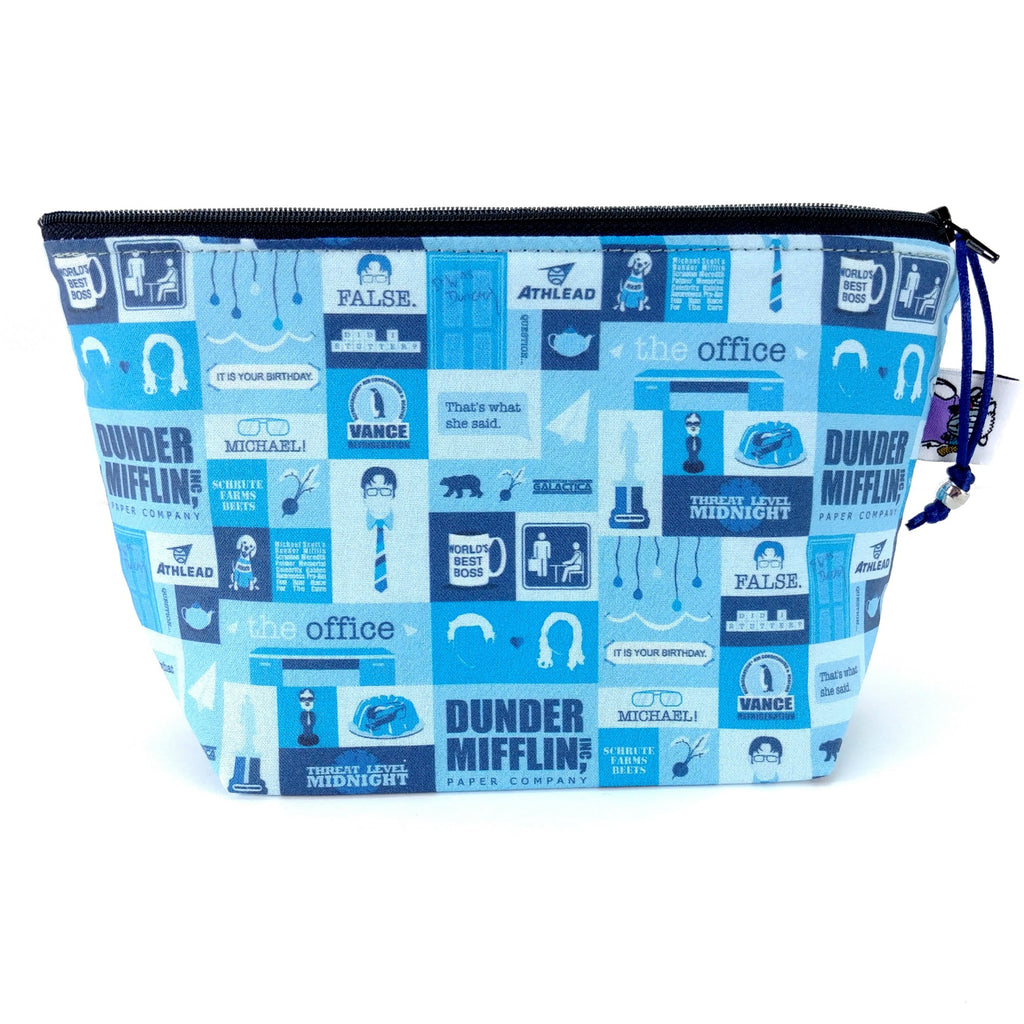The Office </br> Zipper Notion Pouch</br>:Zipper Notion Pouch,Slipped Stitch Studios:Slipped Stitch Studios