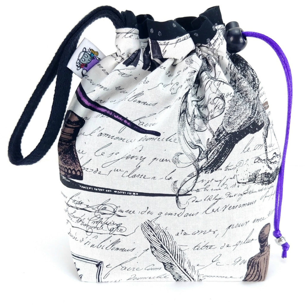 Quoth the Raven (Poe) </br> Small Project Bag:Small Project Bag,Slipped Stitch Studios:Slipped Stitch Studios