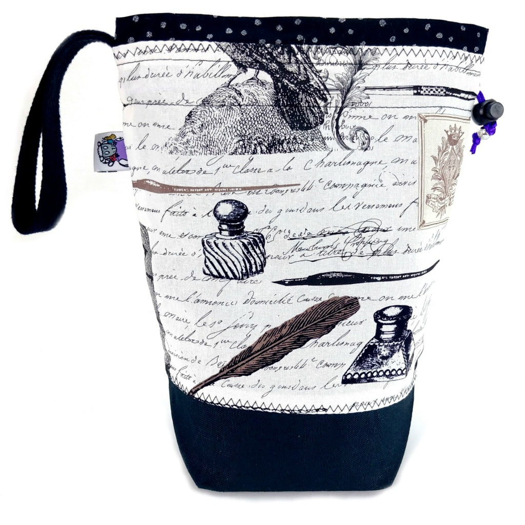 Quoth the Raven (Poe) </br> Medium Project Bag:Medium Project Bag,Slipped Stitch Studios:Slipped Stitch Studios
