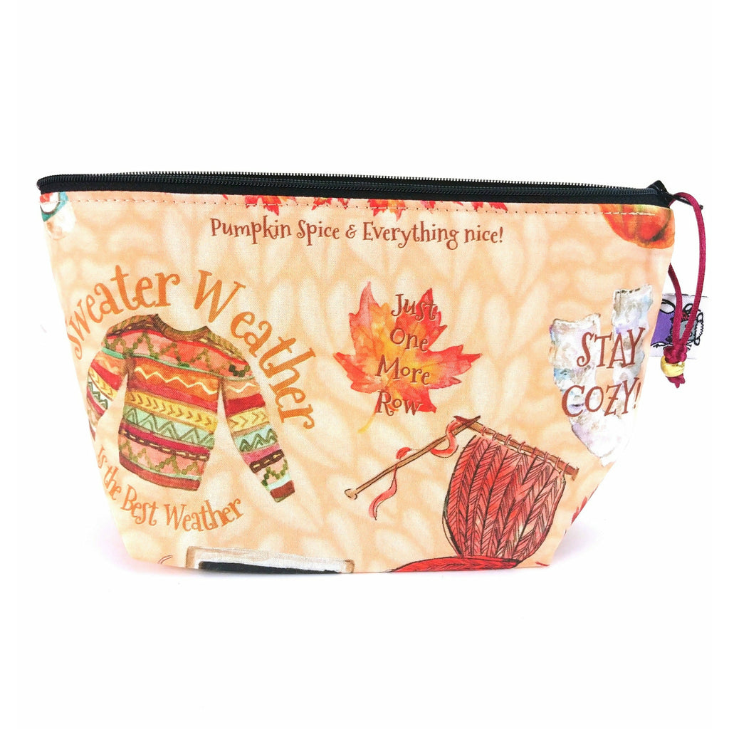 Sweater Weather </br> Zipper Notion Pouch:Zipper Notion Pouch,Slipped Stitch Studios:Slipped Stitch Studios