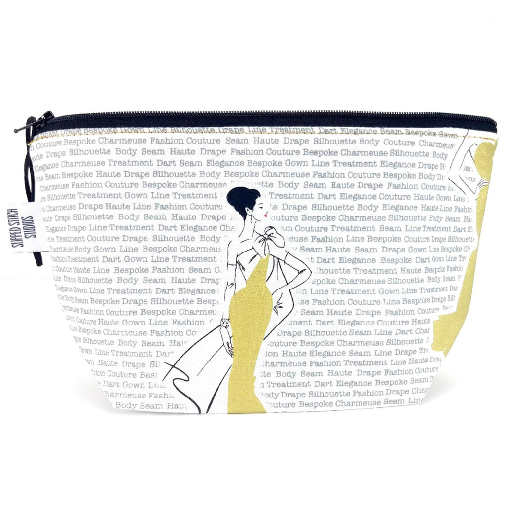 Fashionably Late </br> Zipper Notion Pouch:Zipper Notion Pouch,Slipped Stitch Studios:Slipped Stitch Studios