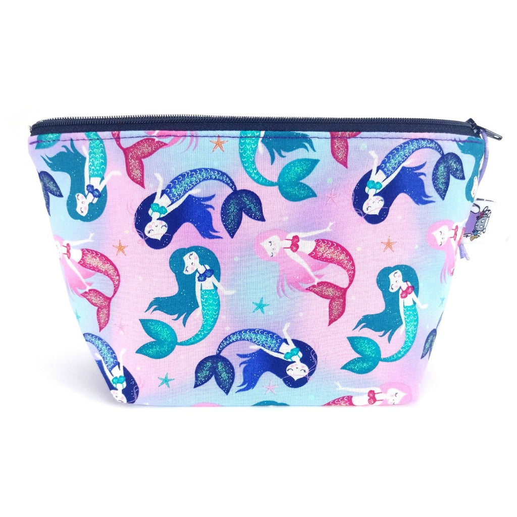 Mermaid Life </br> Zipper Notion Pouch:Zipper Notion Pouch,Slipped Stitch Studios:Slipped Stitch Studios