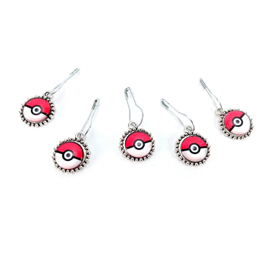 Pokemon </br> Stitch Markers </br> Set of 5