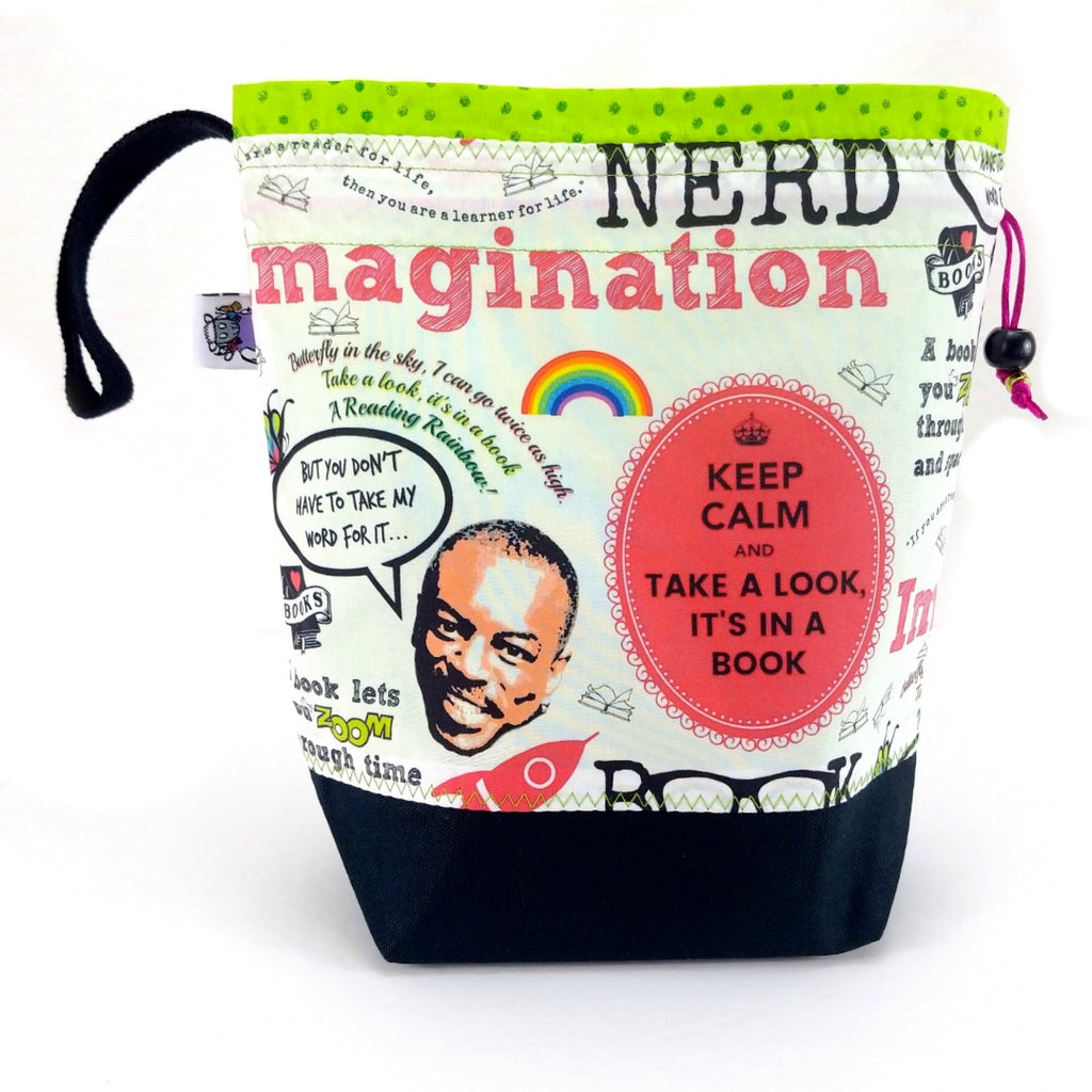 NEW* Reading Rainbow </br> Medium Project Bag:Medium Project Bag,Slipped Stitch Studios:Slipped Stitch Studios