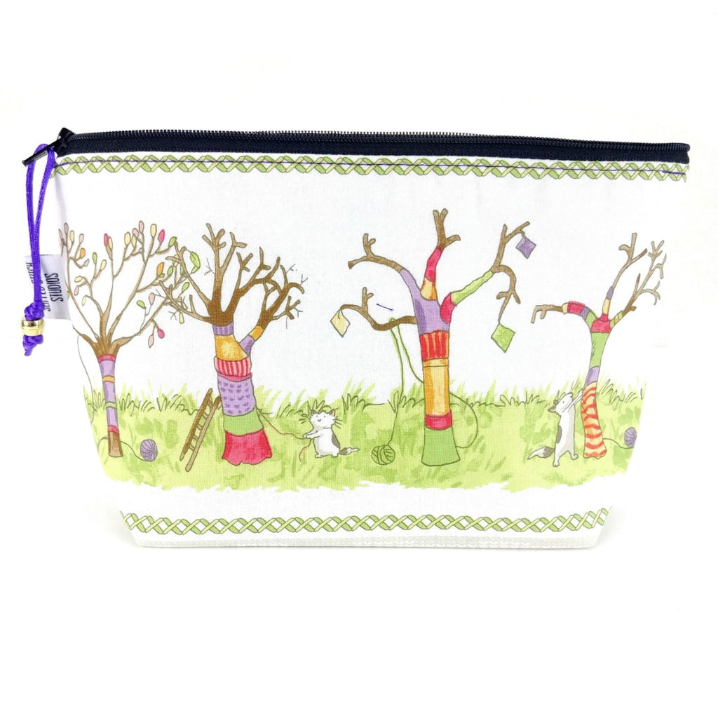 Yarn Bomb </br> Zipper Notion Pouch </br> (Choose: Sheep or Trees):Zipper Notion Pouch,Slipped Stitch Studios:Slipped Stitch Studios