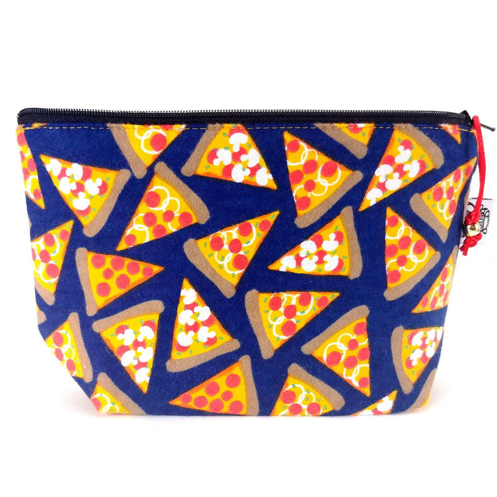 Pizza (Flannel) </br> Zipper Notion Pouch:Zipper Notion Pouch,Slipped Stitch Studios:Slipped Stitch Studios