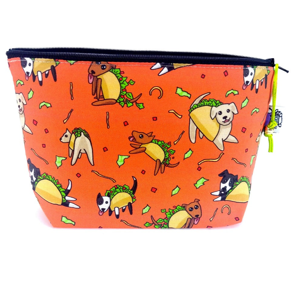 Taco Dogs </br> Zipper Notion Pouch:Zipper Notion Pouch,Slipped Stitch Studios:Slipped Stitch Studios
