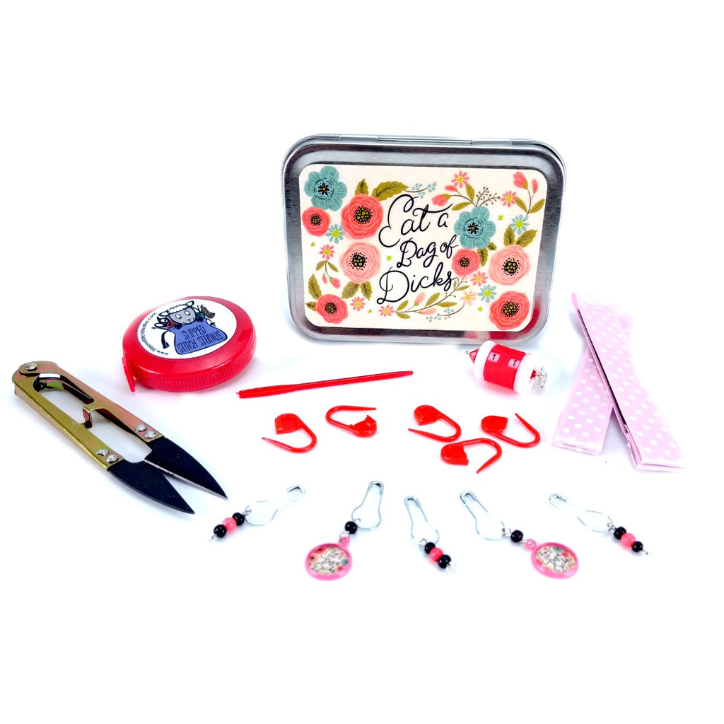 Pretty Sweary </br> Crafter's Tool Kit (Complete) or Box (Empty) </br> Pre Order:Tool Box,Slipped Stitch Studios:Slipped Stitch Studios