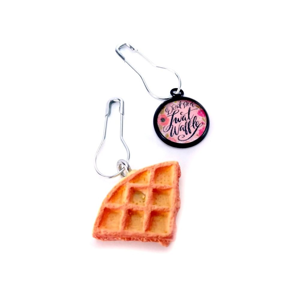Don't Be a T* Waffle (Set of 2) </br> Stitch Marker:Stitch Markers,Slipped Stitch Studios:Slipped Stitch Studios