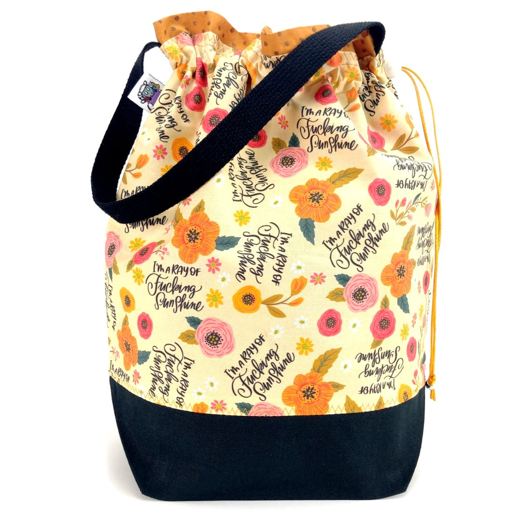 I'm a Ray of F*ing Sunshine </br> Large Project Bag:Large Project Bag,Slipped Stitch Studios:Slipped Stitch Studios