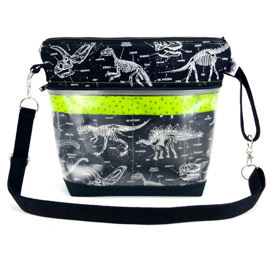 Glow-in-the-Dark Fossils </br> Go Crafty Hybrid Sling:Hybrid Tool Case,Slipped Stitch Studios:Slipped Stitch Studios