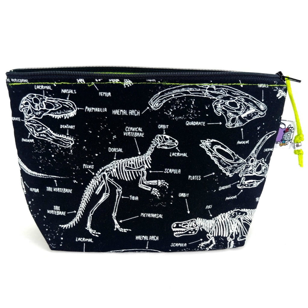 Glow-in-the-Dark Fossils </br> Zipper Notion Pouch:Zipper Notion Pouch,Slipped Stitch Studios:Slipped Stitch Studios