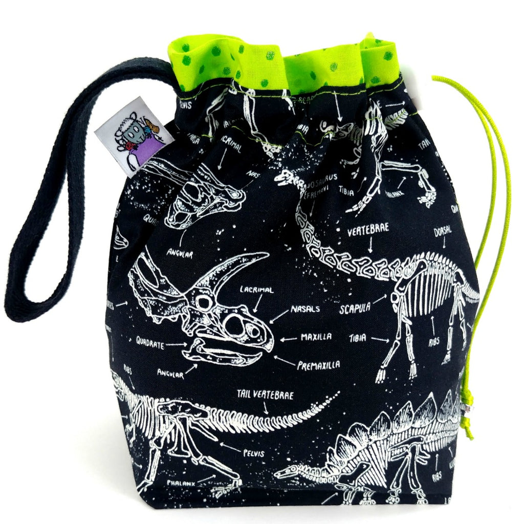 Glow-in-the-Dark Fossils </br> Small Project Bag:Small Project Bag,Slipped Stitch Studios:Slipped Stitch Studios