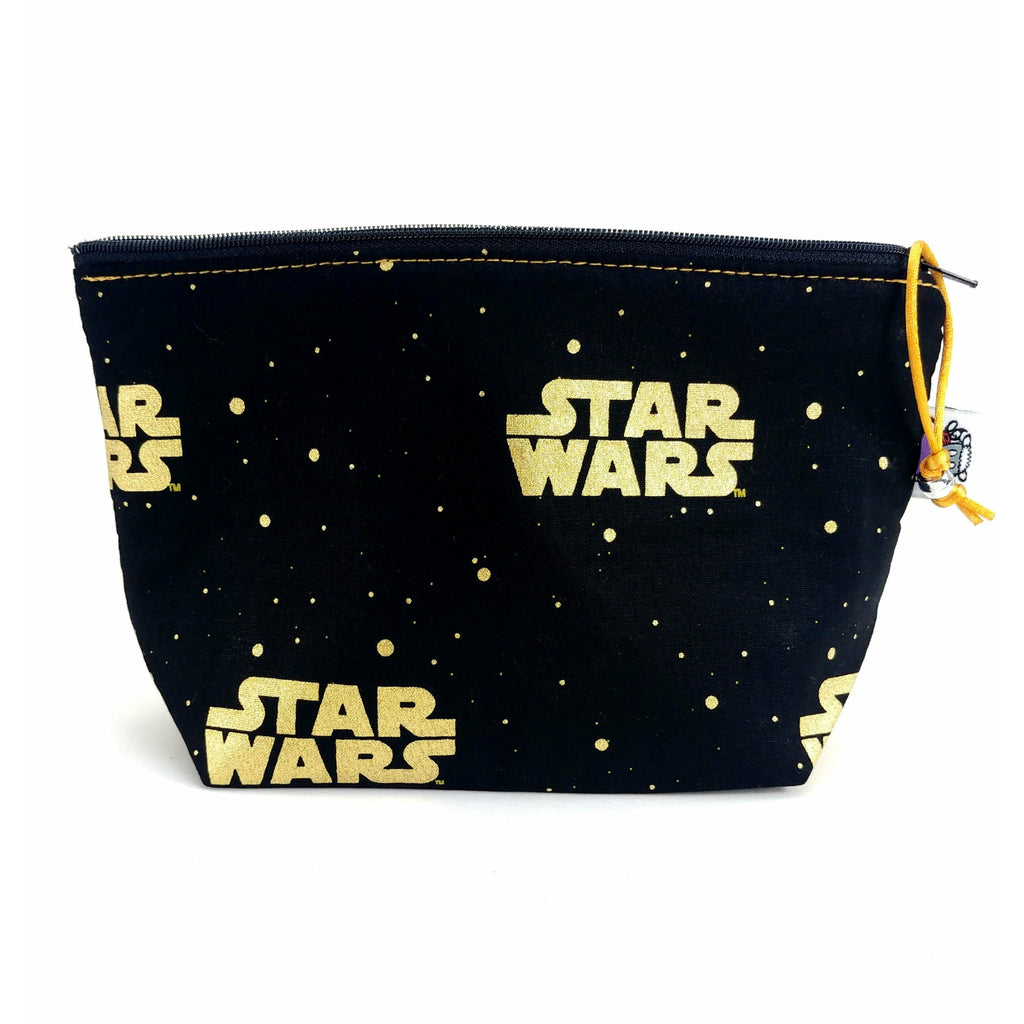Star Wars Gold </br> Zipper Notion Pouch:Zipper Notion Pouch,Slipped Stitch Studios:Slipped Stitch Studios