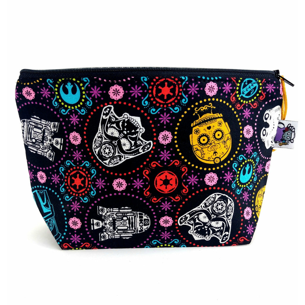 In a Colorful Galaxy Far Far Away </br> Zipper Notion Pouch:Zipper Notion Pouch,Slipped Stitch Studios:Slipped Stitch Studios