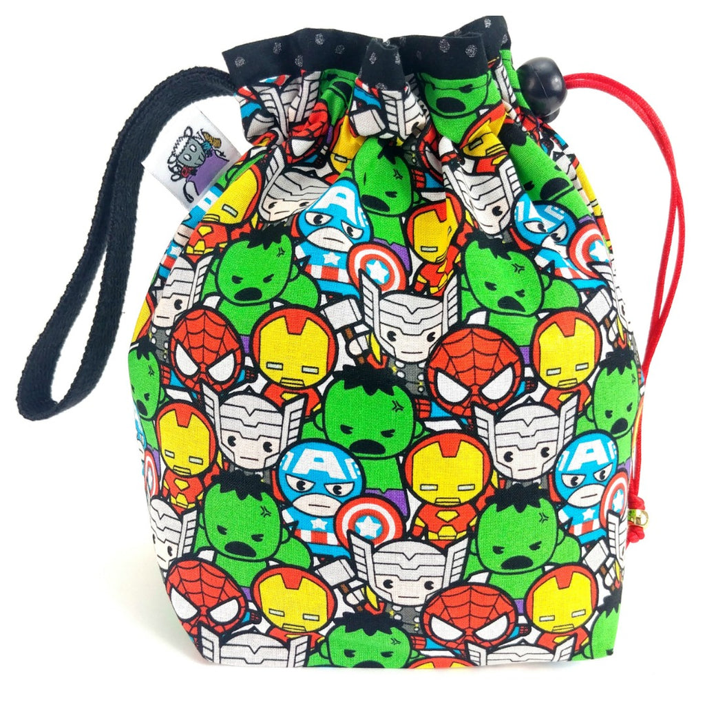 Avengers Chibis </br> Small Project Bag:Small Project Bag,Slipped Stitch Studios:Slipped Stitch Studios