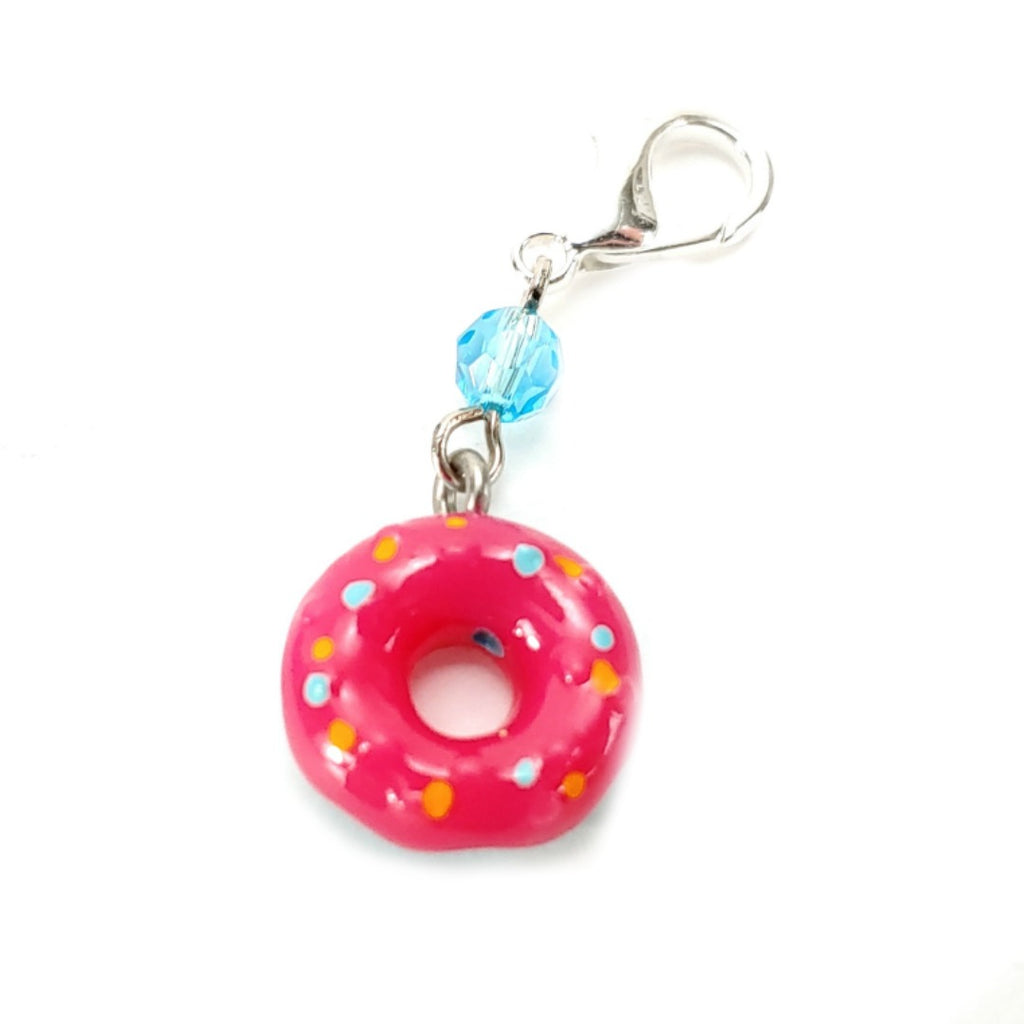 Sweets That Sparkle Donut </br> Stitch Marker (Single):Stitch Markers,Slipped Stitch Studios:Slipped Stitch Studios
