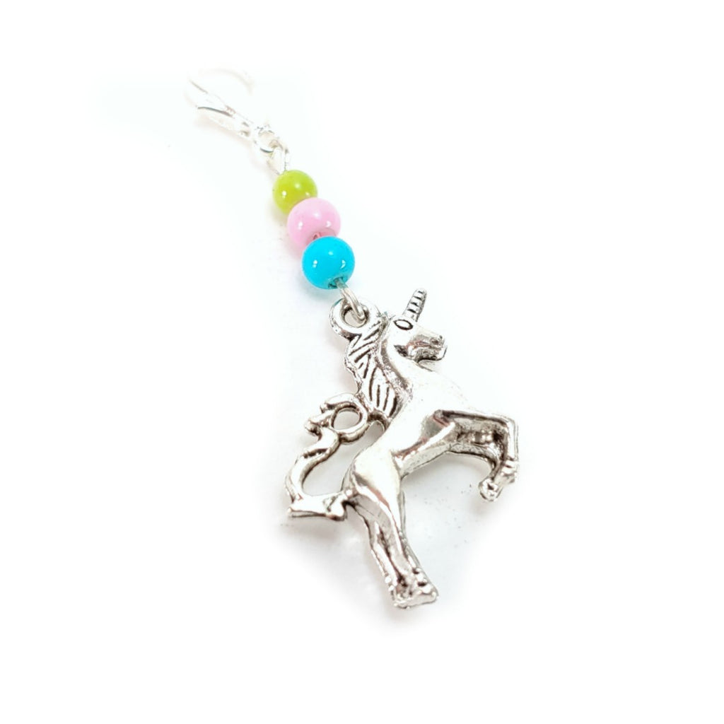 Rainbow Unicorn </br> Stitch Marker (Single):Stitch Markers,Slipped Stitch Studios:Slipped Stitch Studios