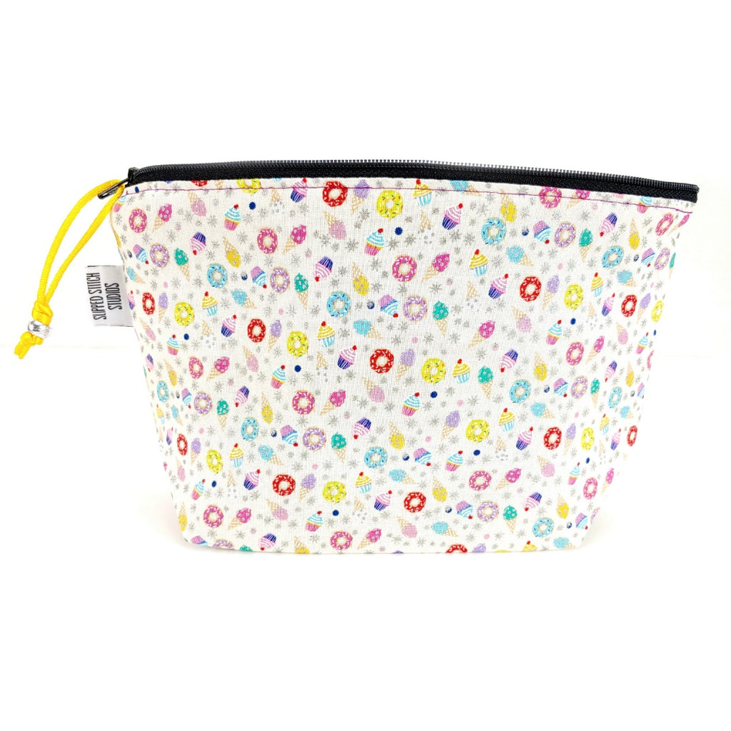 Sweets That Sparkle </br> Zipper Notion Pouch:Zipper Notion Pouch,Slipped Stitch Studios:Slipped Stitch Studios