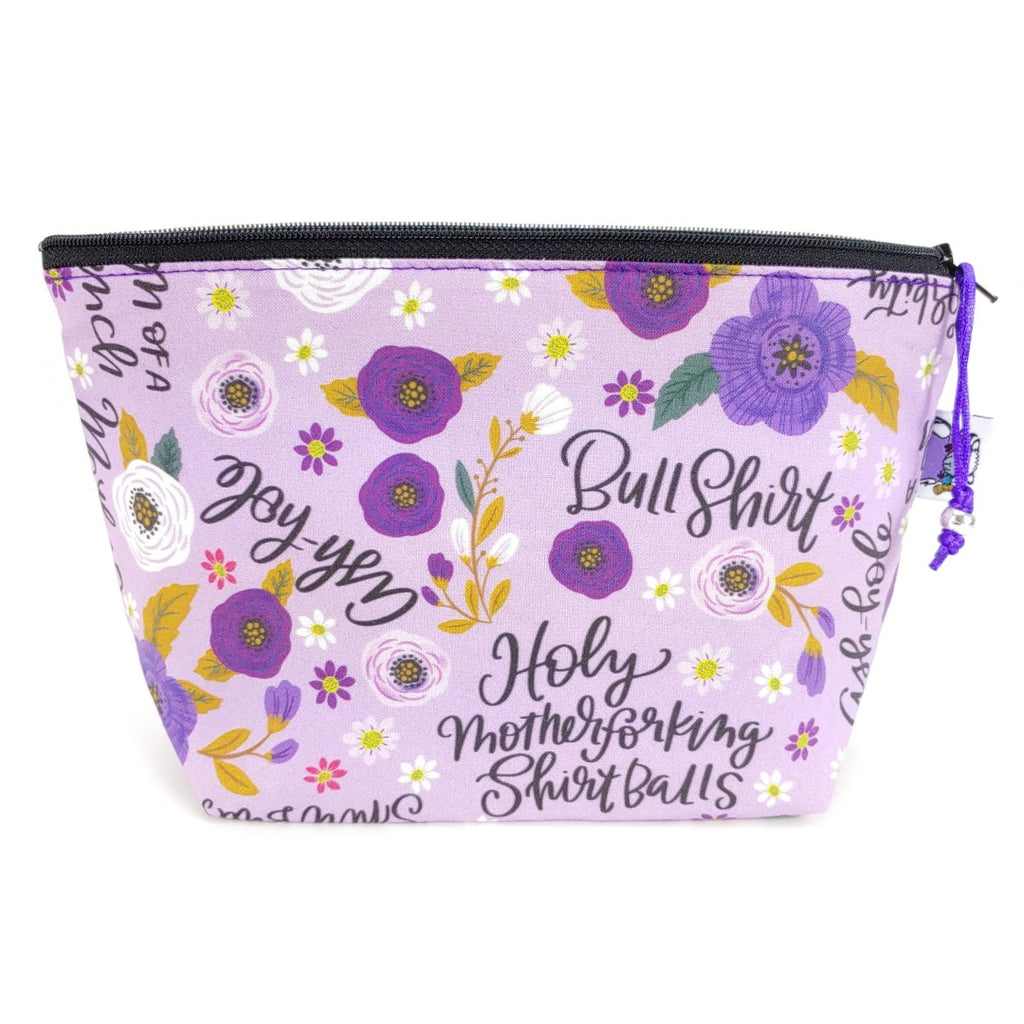Not-So-Sweary </br> Zipper Notion Pouch:Zipper Notion Pouch,Slipped Stitch Studios:Slipped Stitch Studios