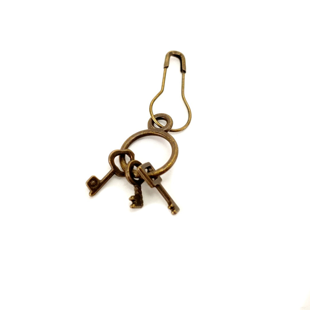 Steampunk Key (small set) </br> Stitch Marker (Single):Stitch Markers,Slipped Stitch Studios:Slipped Stitch Studios