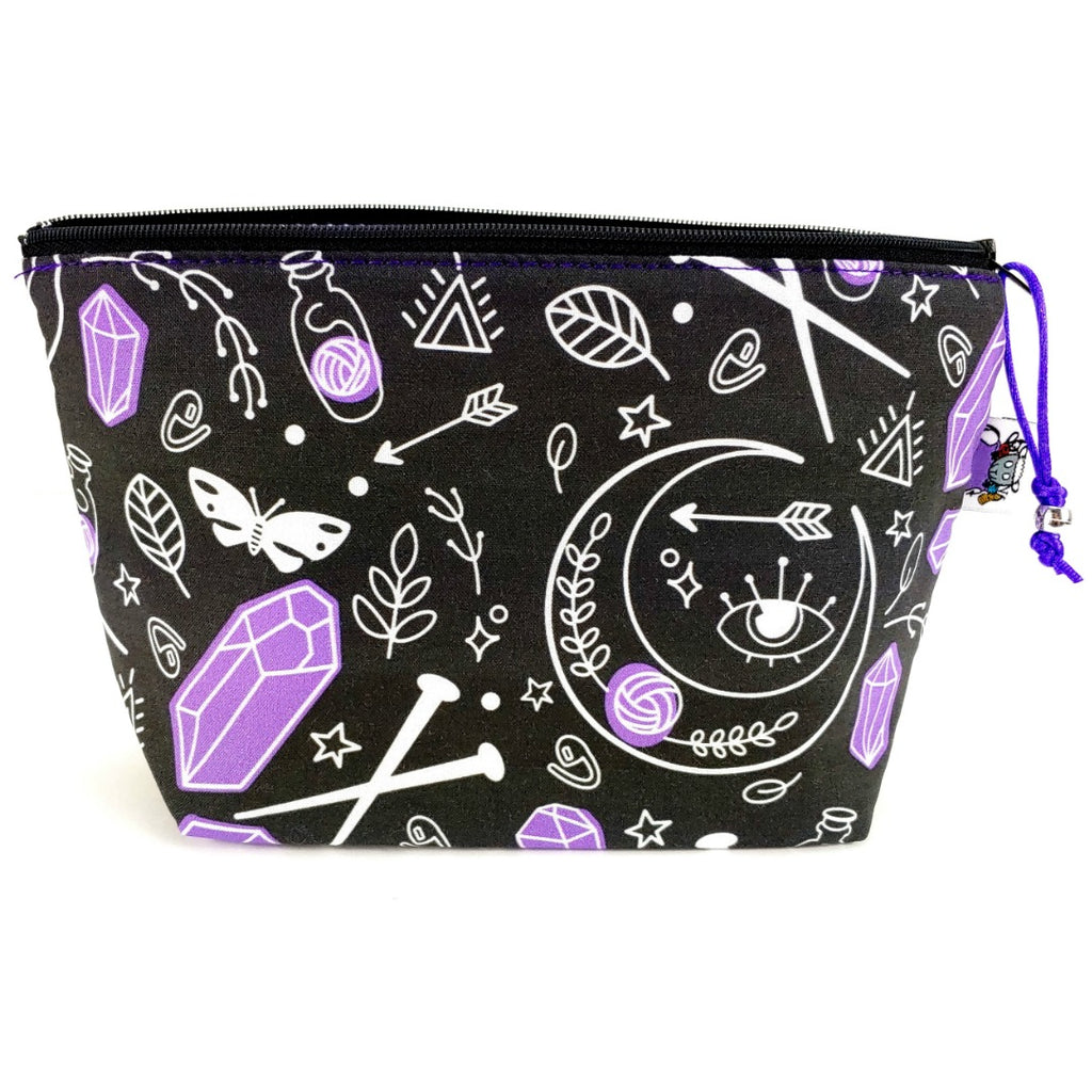 Mystic Knitter </br> Zipper Notion Pouch (If Sold Out, Pre Order Available):Zipper Notion Pouch,Slipped Stitch Studios:Slipped Stitch Studios