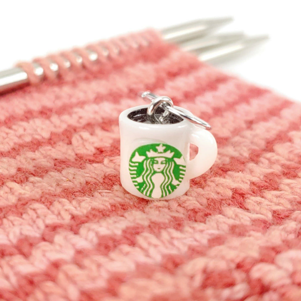 Dine in or Take Out </br> Stitch Marker (Single):Stitch Markers,Slipped Stitch Studios:Slipped Stitch Studios