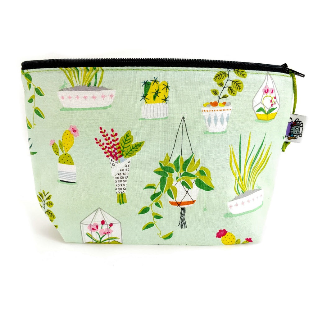 Just One More Plant </br> Zipper Notion Pouch:Zipper Notion Pouch,Slipped Stitch Studios:Slipped Stitch Studios