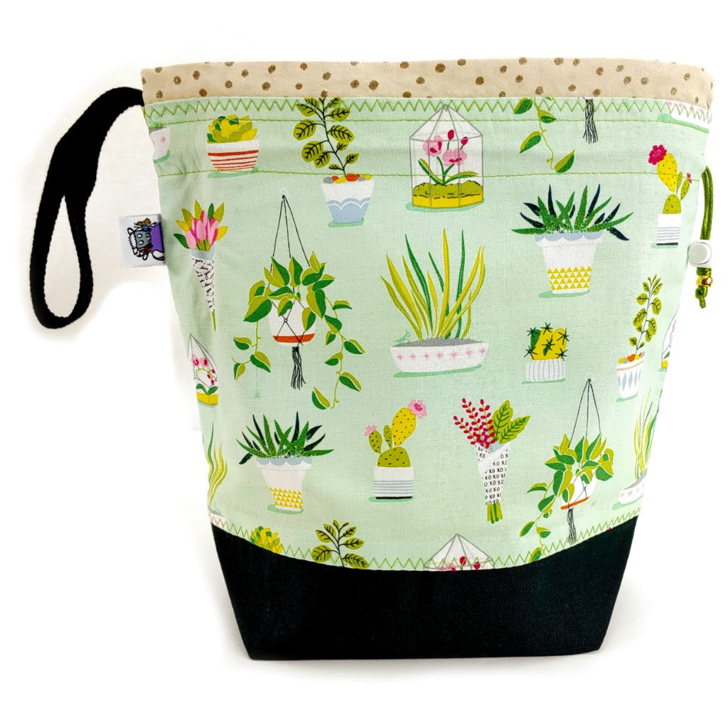 NEW* Medium Project Bag </br> Just One More Plant:Medium Project Bag,Slipped Stitch Studios:Slipped Stitch Studios