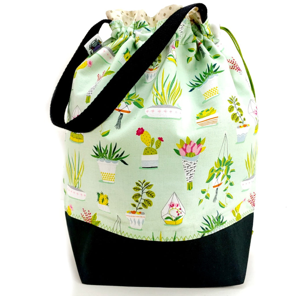 Just One More Plant </br> Large Project Bag:Large Project Bag,Slipped Stitch Studios:Slipped Stitch Studios