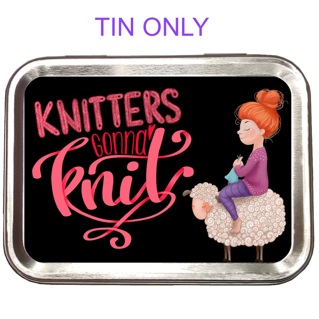 Knitters Gonna Knit </br> Crafter's Tool Box (Empty):Tool Box,Slipped Stitch Studios:Slipped Stitch Studios