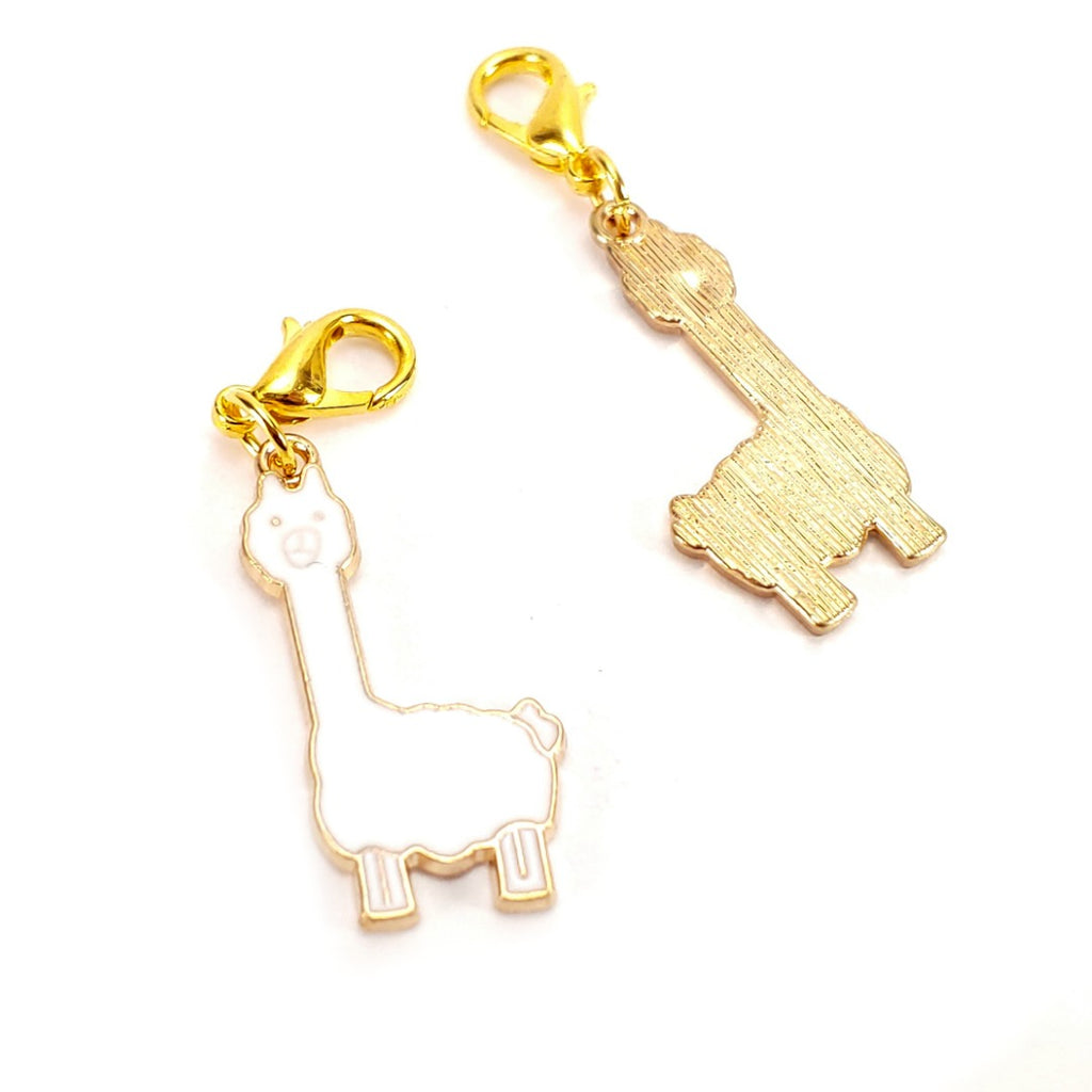 Llama (gold clasp only) </br> Stitch Marker (Single):Stitch Markers,Slipped Stitch Studios:Slipped Stitch Studios