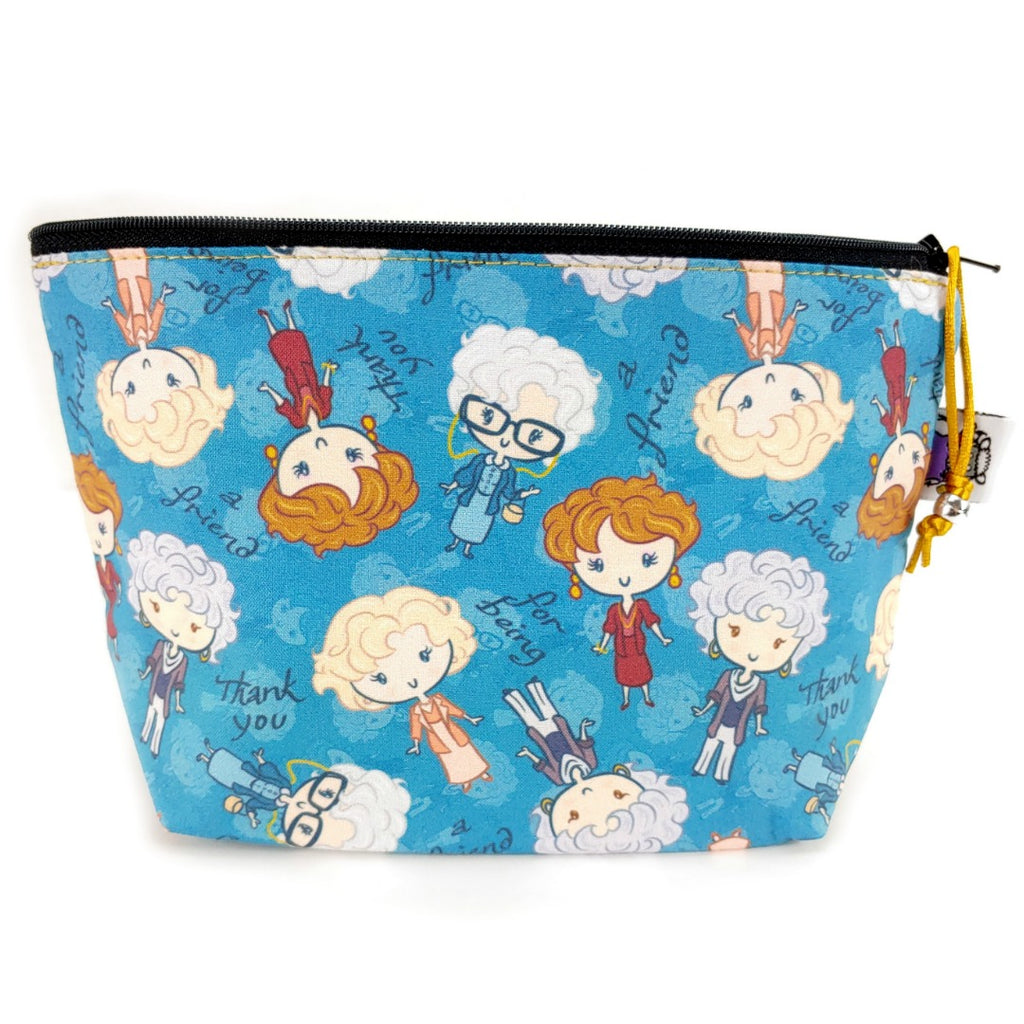 Golden Girls </br> Zipper Notion Pouch:Zipper Notion Pouch,Slipped Stitch Studios:Slipped Stitch Studios