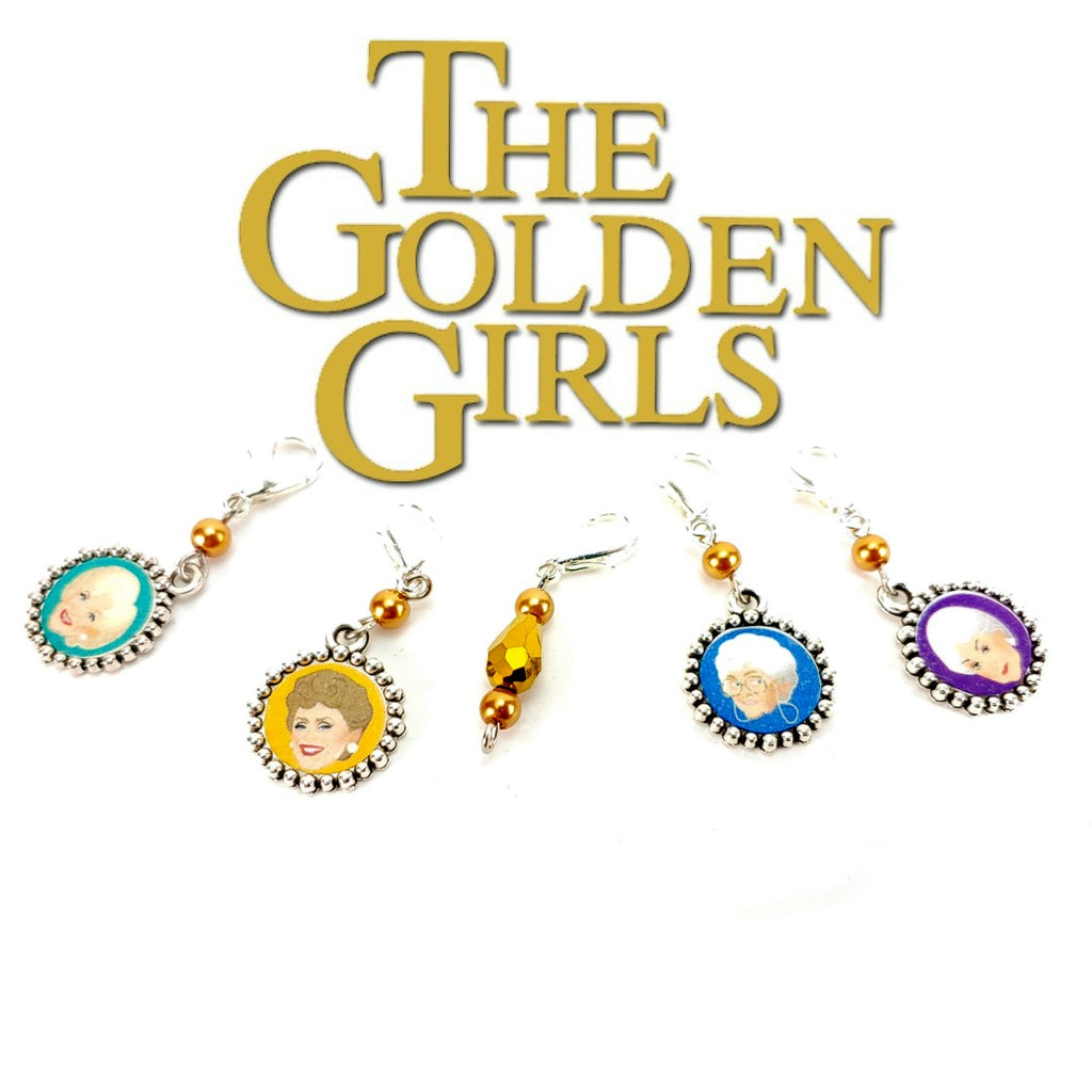 Golden Girls </br> Stitch Markers </br> Set of 5:Stitch Markers,Slipped Stitch Studios:Slipped Stitch Studios