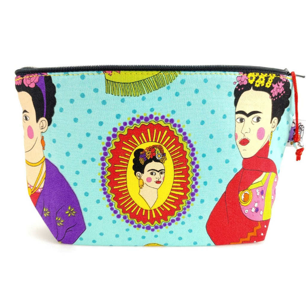 Frida (turquoise) </br> Zipper Notion Pouch:Zipper Notion Pouch,Slipped Stitch Studios:Slipped Stitch Studios
