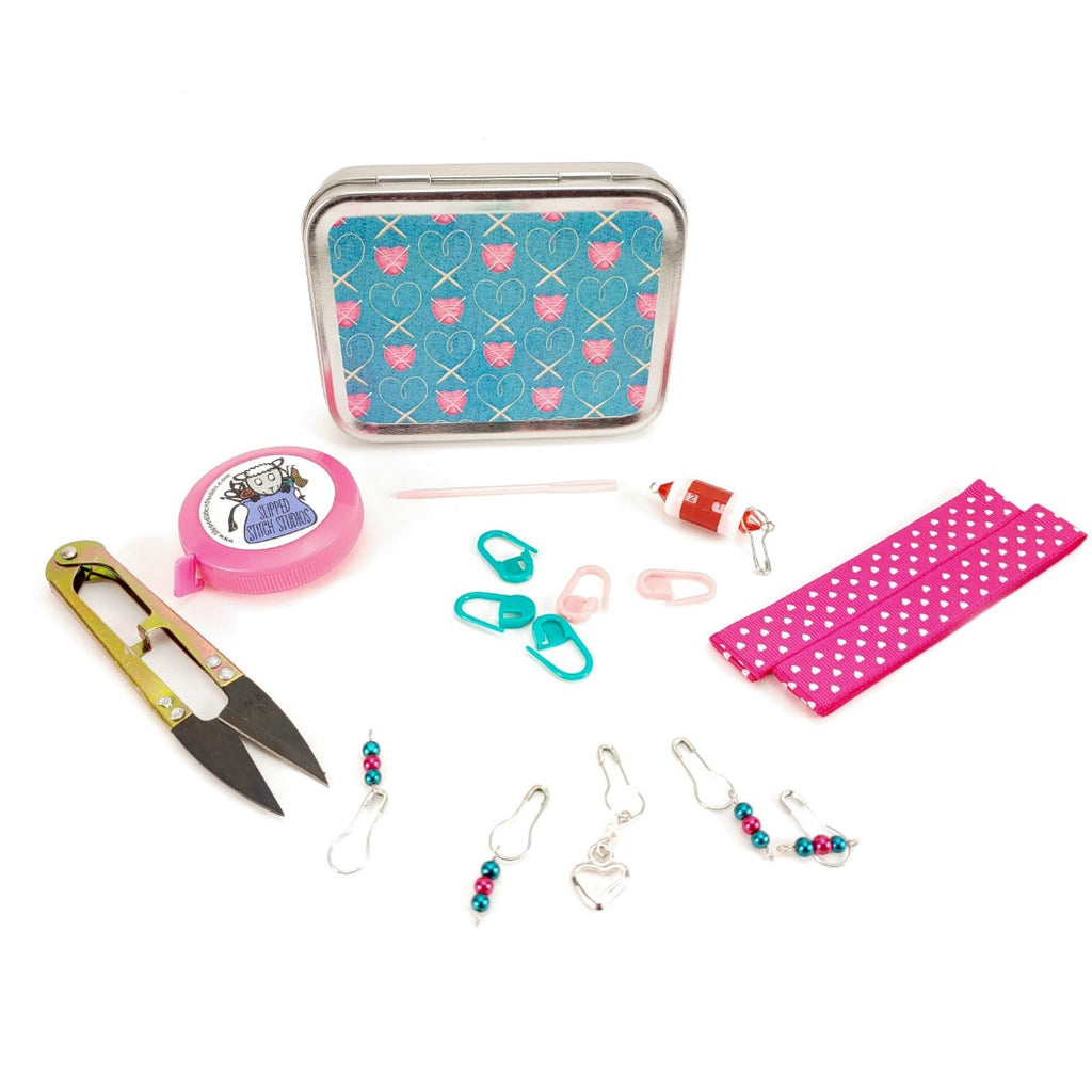 Tools of the Trade (Teal) </br> Crafter's Tool Kit (Complete):Tool Box,Slipped Stitch Studios:Slipped Stitch Studios