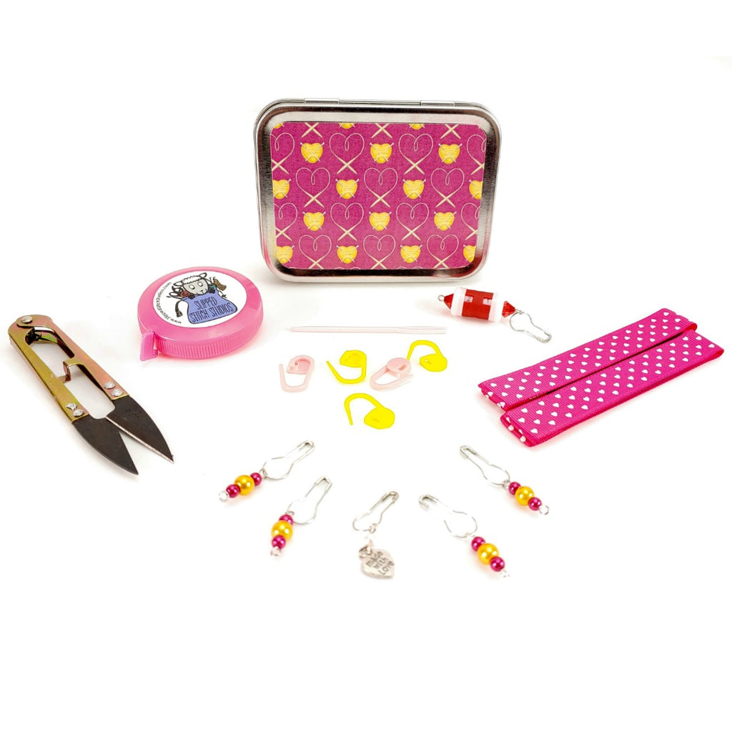 Tools of the Trade (Dark Pink) </br> Crafter's Tool Kit (Complete):Tool Box,Slipped Stitch Studios:Slipped Stitch Studios