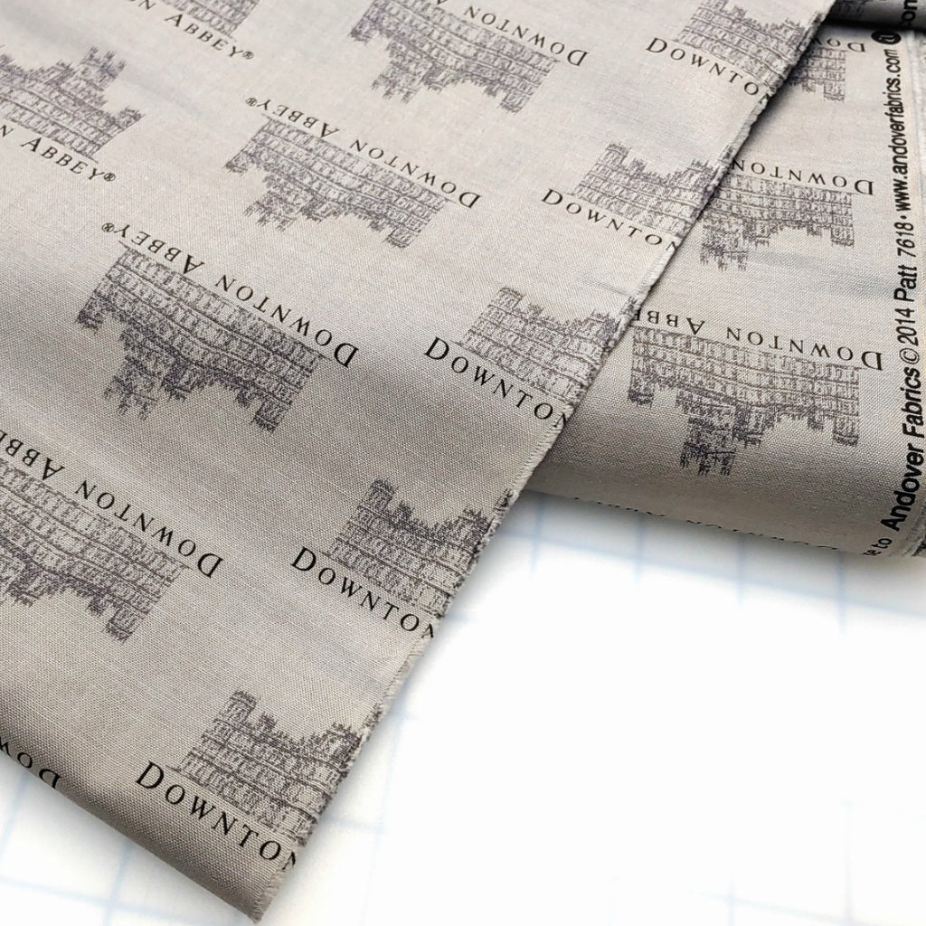 Downton Abbey - Gray </br> Original Fabric (By the Yard):Fabric,Slipped Stitch Studios:Slipped Stitch Studios