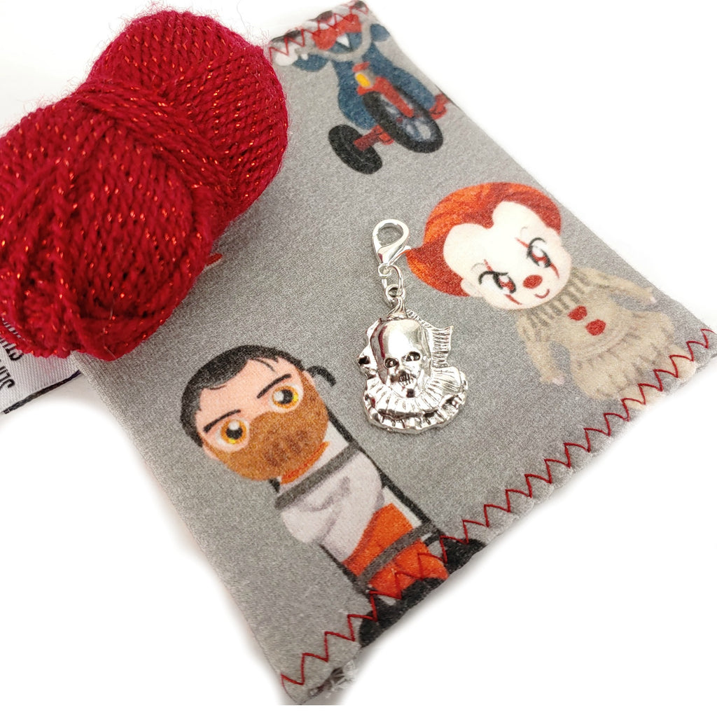 Choose your Serial Killer </br> Stitch Marker (Single):Stitch Markers,Slipped Stitch Studios:Slipped Stitch Studios
