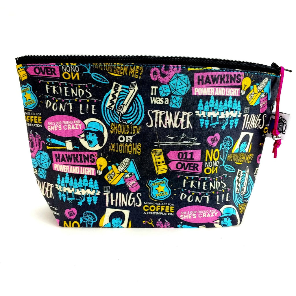 Stranger Things - Stranger Sayings </br> Zipper Notion Pouch:Zipper Notion Pouch,Slipped Stitch Studios:Slipped Stitch Studios