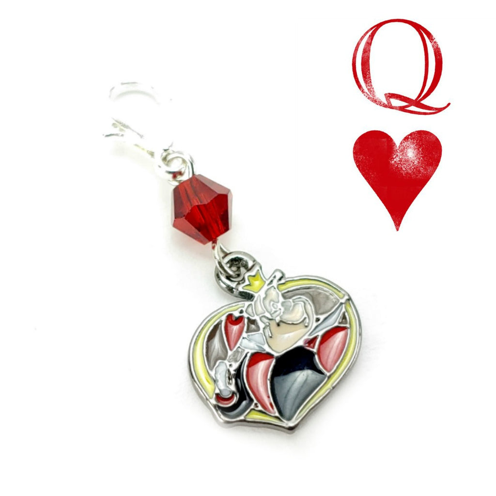 Queen of Hearts </br> Stitch Marker (Single):Stitch Markers,Slipped Stitch Studios:Slipped Stitch Studios